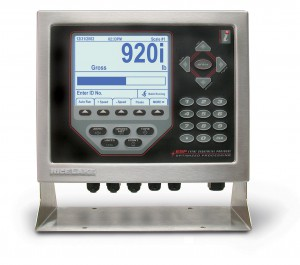 Rice Lake 920i programmable dynamic weigh controller configured as a check weiger