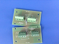Standard PCB Termination Board – the configuration varies according to the method of belt speed sensor used