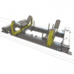 Dual idler 4 load cell heavy duty suspended conveyor belt scale. Accuracies of up to 0.5%
