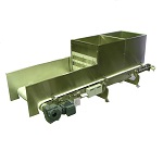 Pot weigh belt feeder